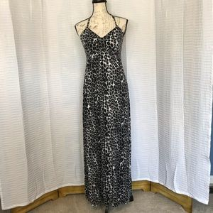 Express Animal Print Halter Maxi Dress - S - EUC